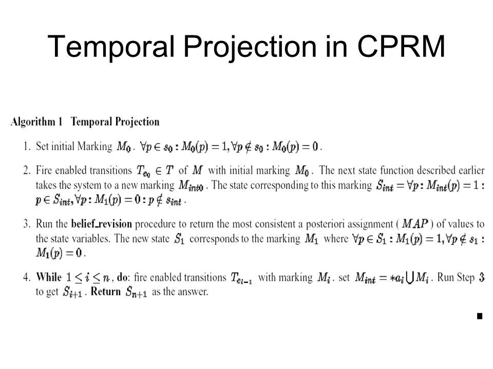Temporal Projection in CPRM