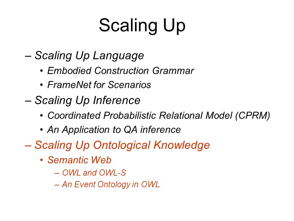 Scaling Up Scaling Up Language Scaling Up Inference