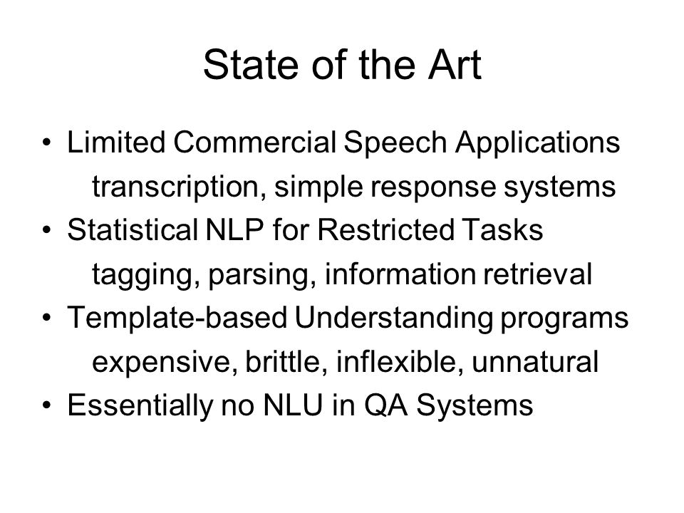 State of the Art Limited Commercial Speech Applications