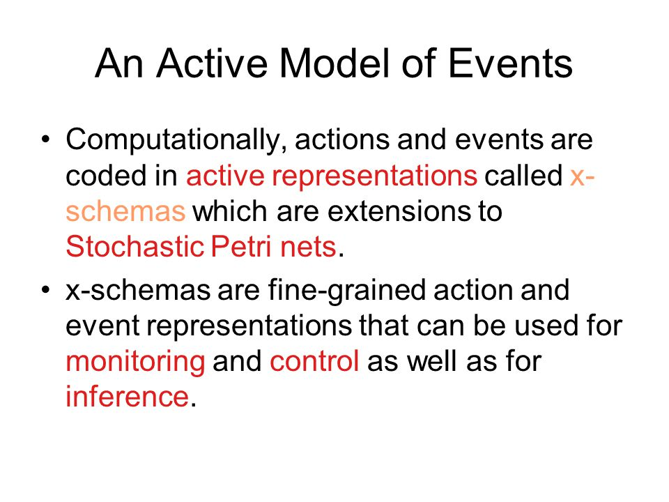 An Active Model of Events