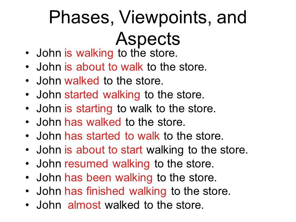 Phases, Viewpoints, and Aspects