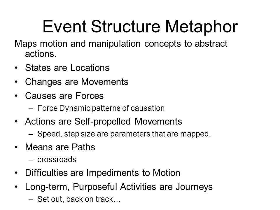 Event Structure Metaphor