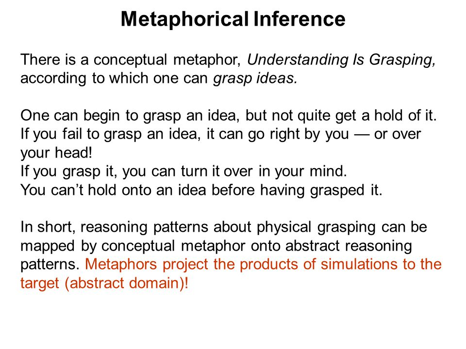 Metaphorical Inference