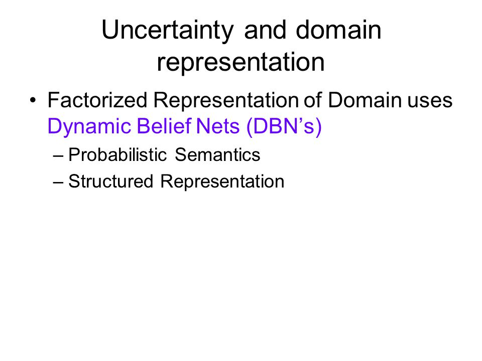 Uncertainty and domain representation