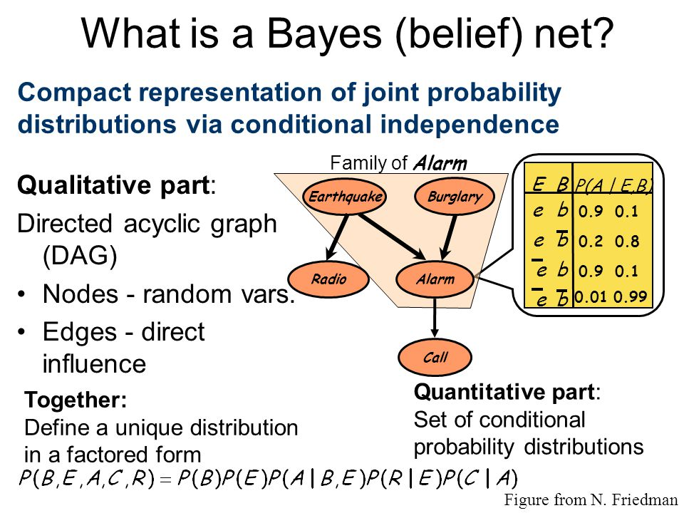 What is a Bayes (belief) net