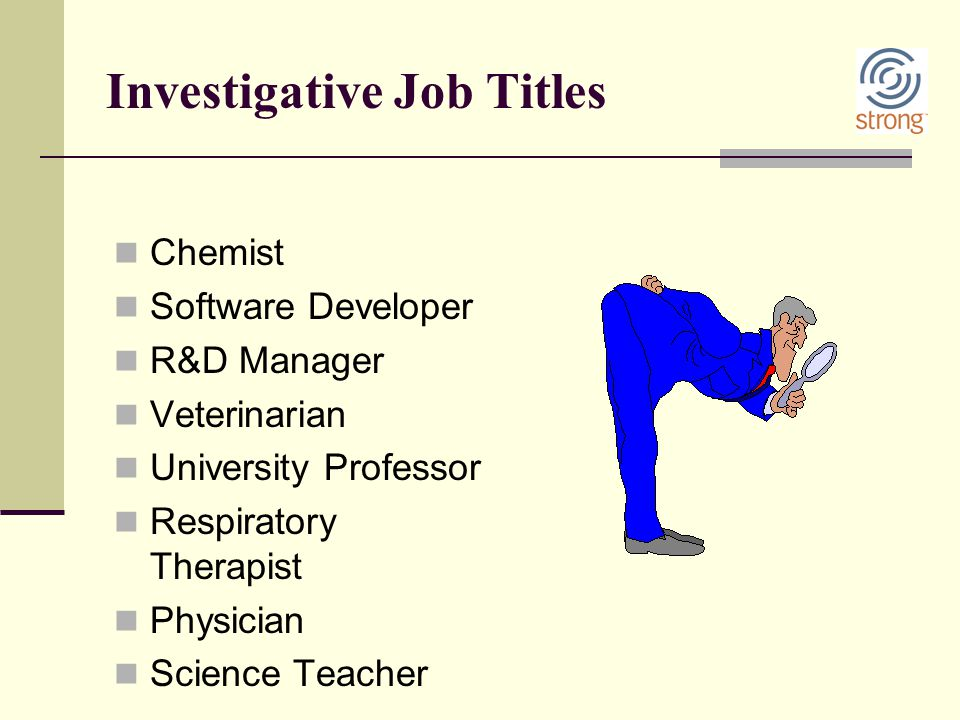 Investigative Job Titles
