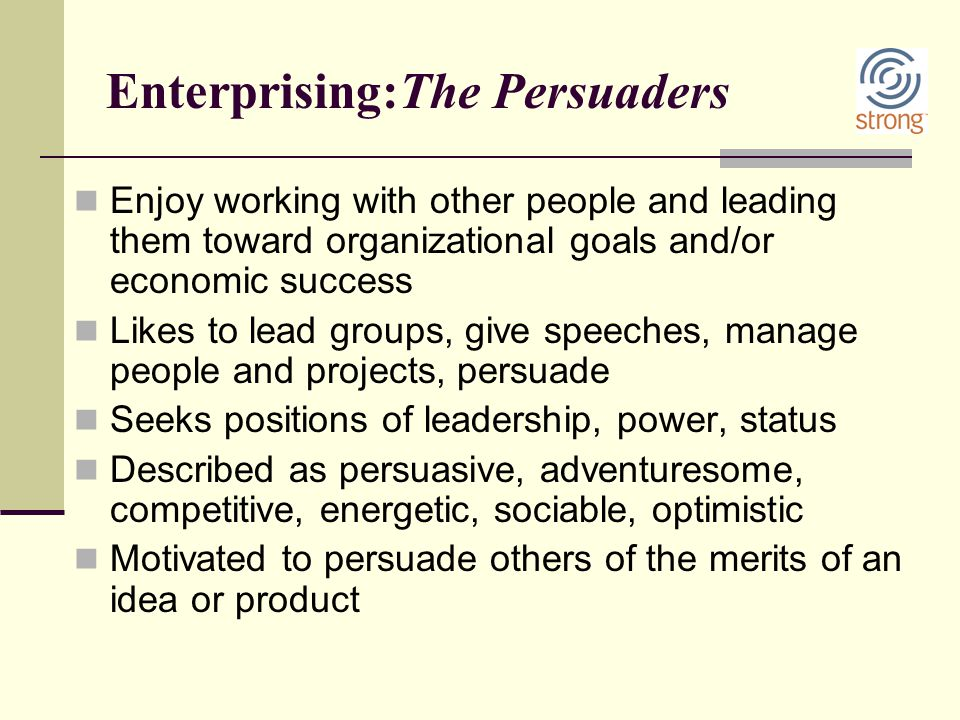 Enterprising:The Persuaders