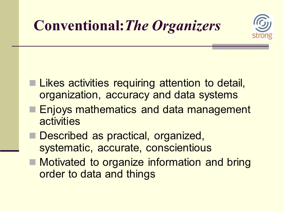 Conventional:The Organizers