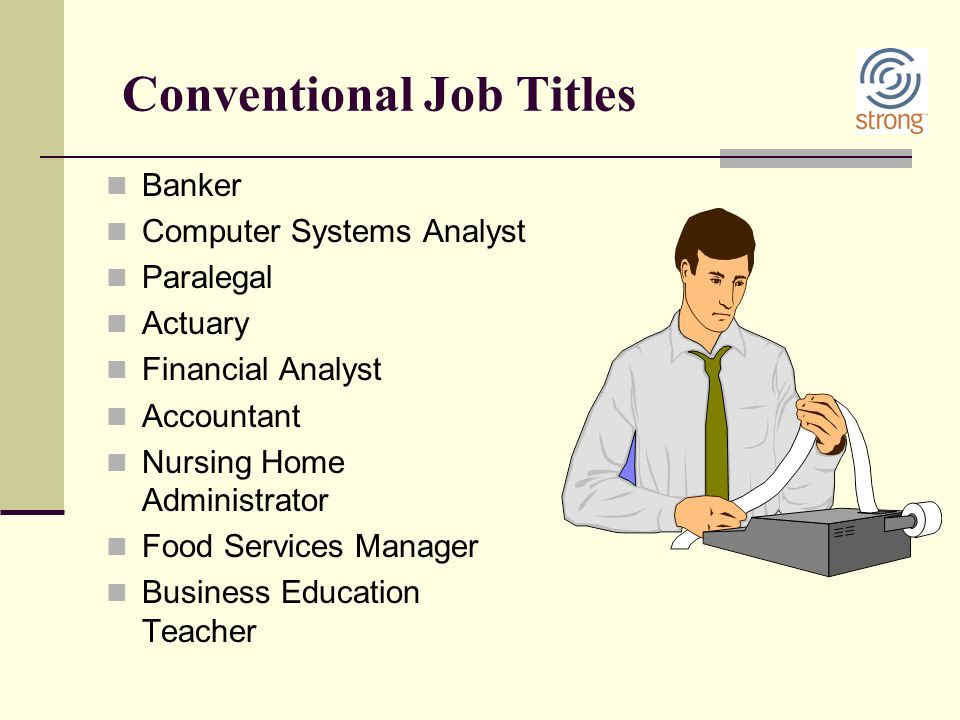 Conventional Job Titles
