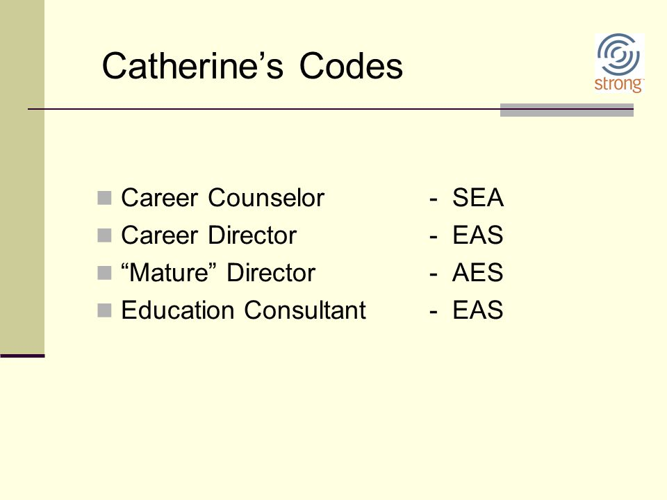 Catherine's Codes Career Counselor - SEA Career Director - EAS