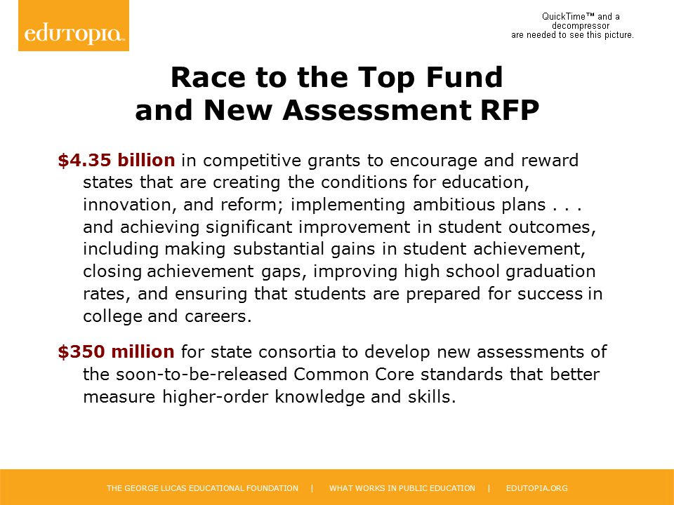 Race to the Top Fund and New Assessment RFP