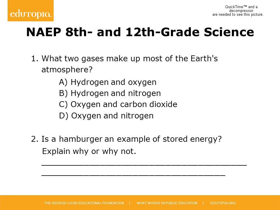 NAEP 8th- and 12th-Grade Science