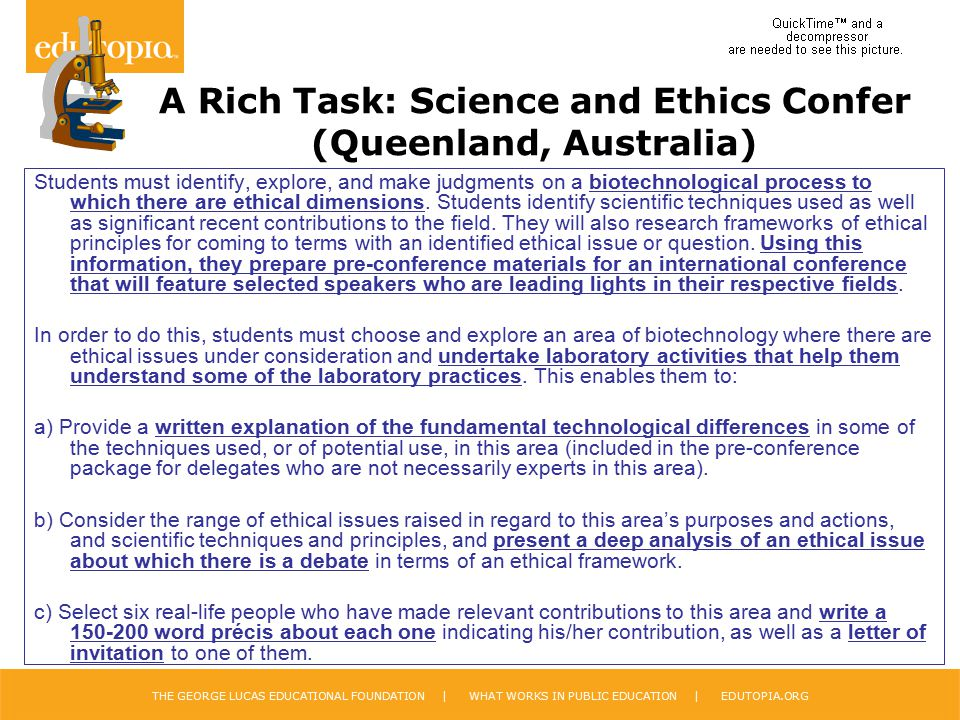 A Rich Task: Science and Ethics Confer (Queenland, Australia)