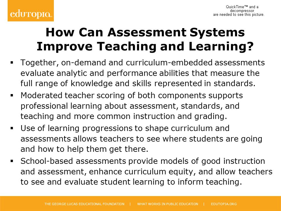 How Can Assessment Systems Improve Teaching and Learning