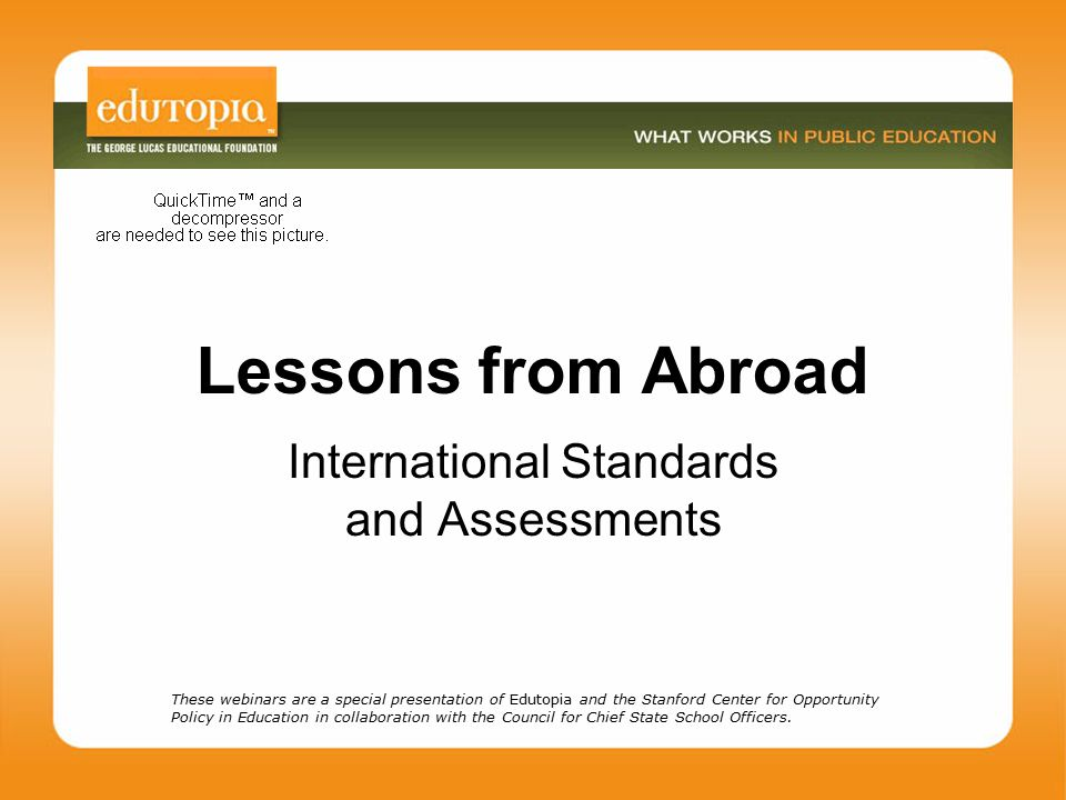 International Standards and Assessments