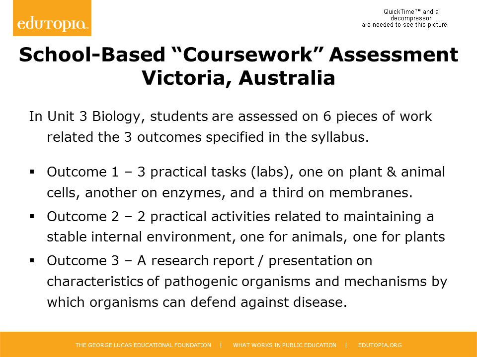 School-Based Coursework Assessment Victoria, Australia