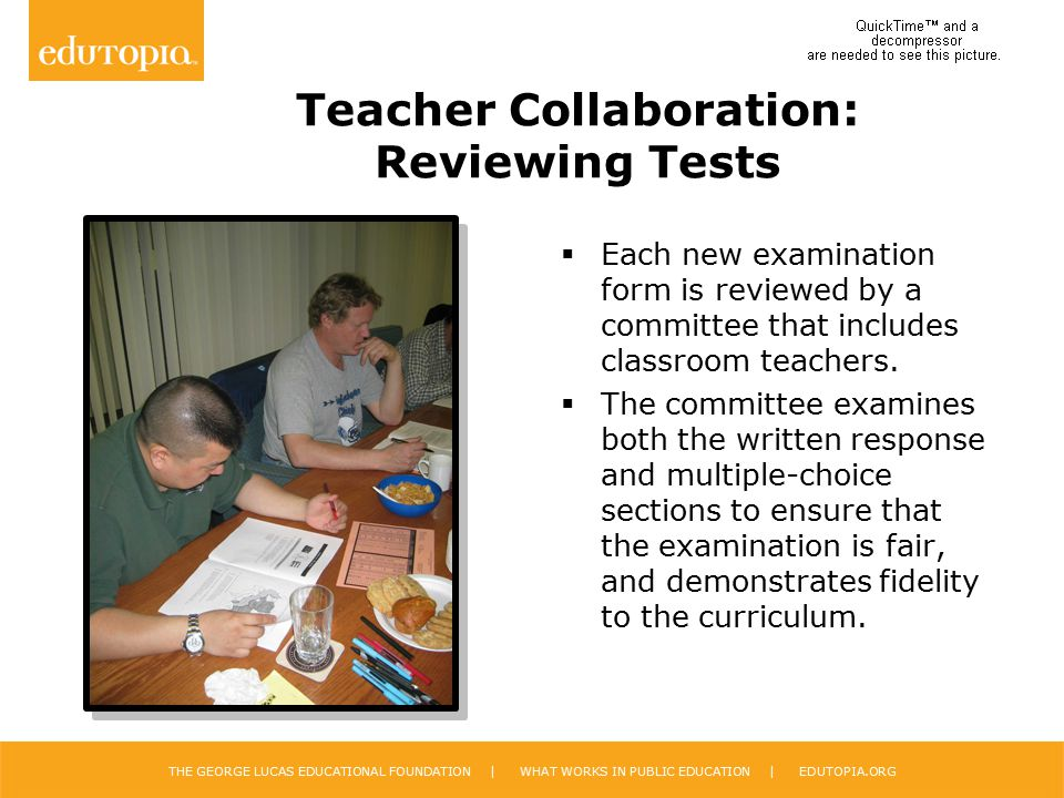 Teacher Collaboration: Reviewing Tests