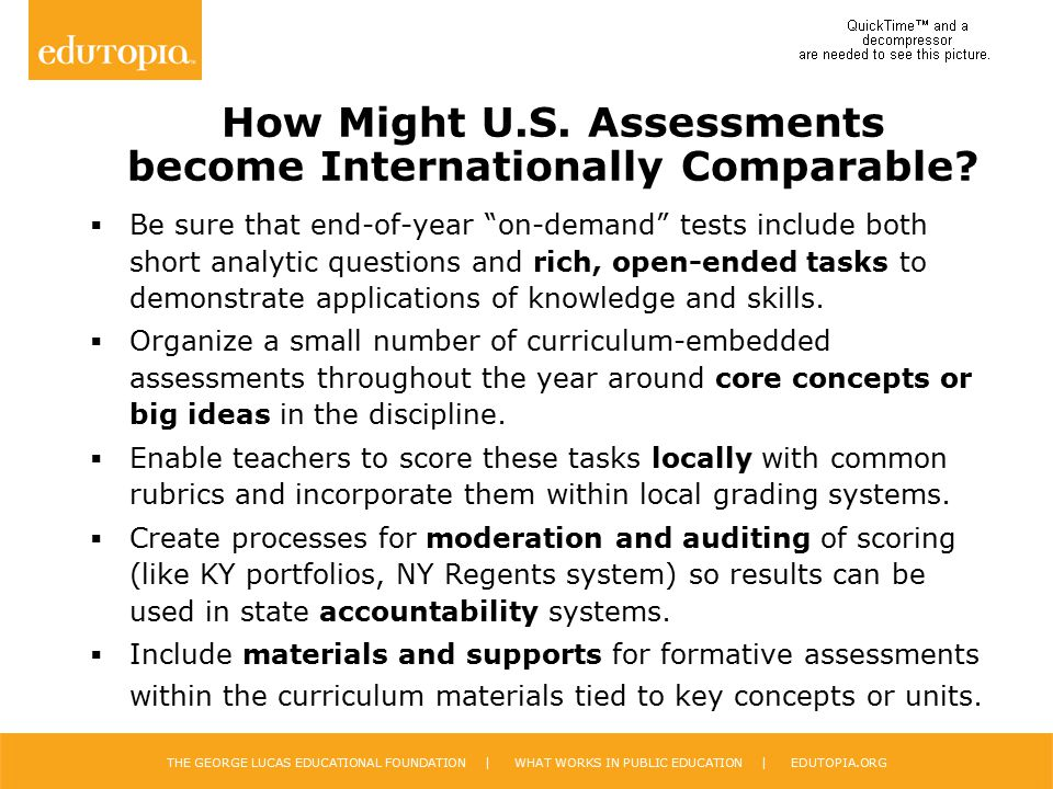 How Might U.S. Assessments become Internationally Comparable