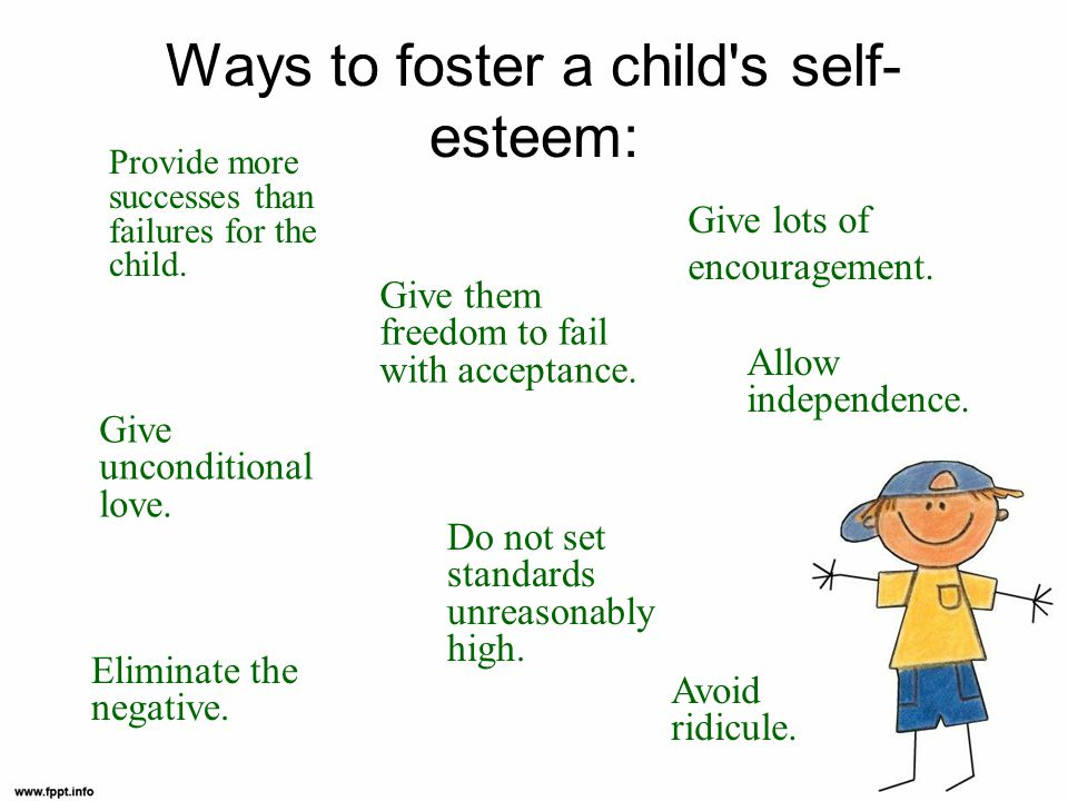 Ways to foster a child s self-esteem: