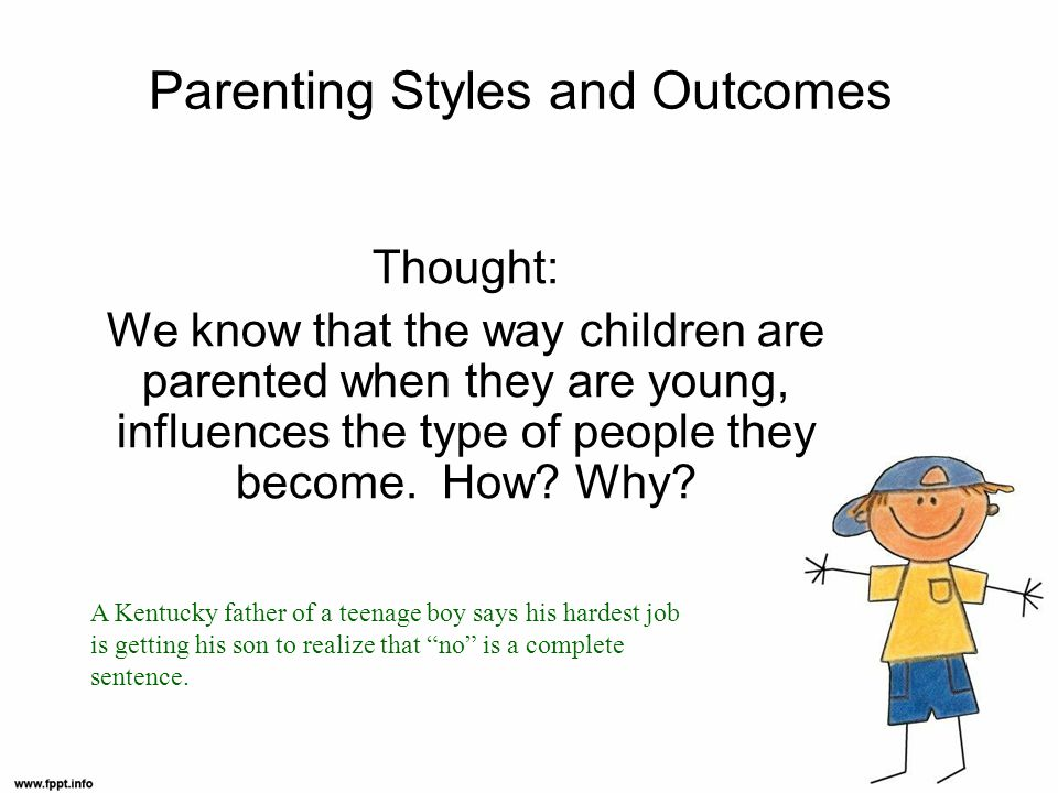 Parenting Styles and Outcomes