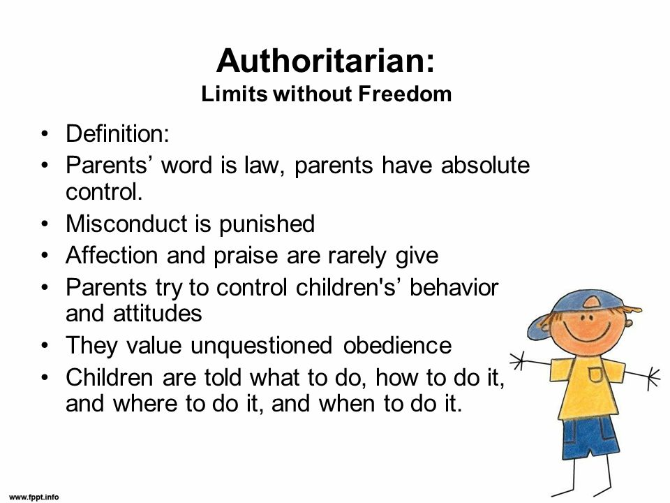 Authoritarian: Limits without Freedom