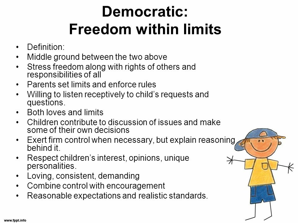 Democratic: Freedom within limits