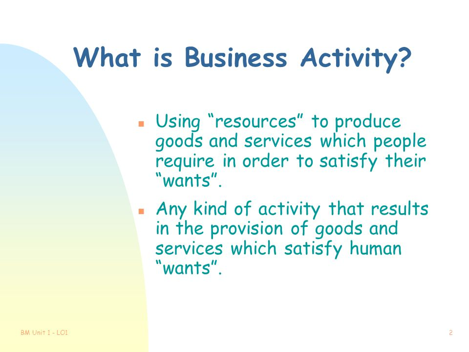 What is Business Activity