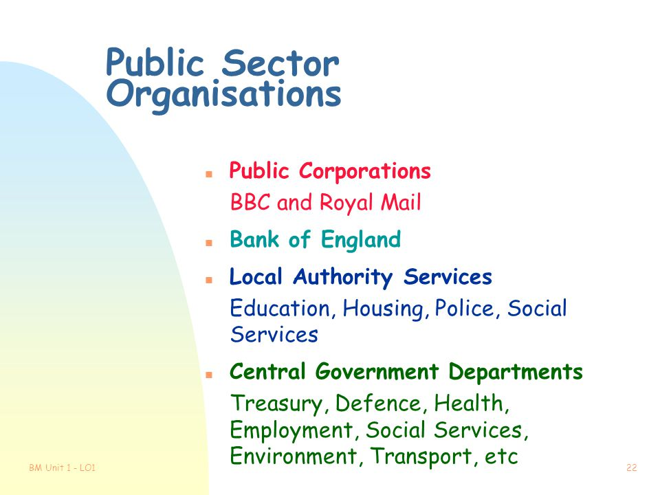 Public Sector Organisations