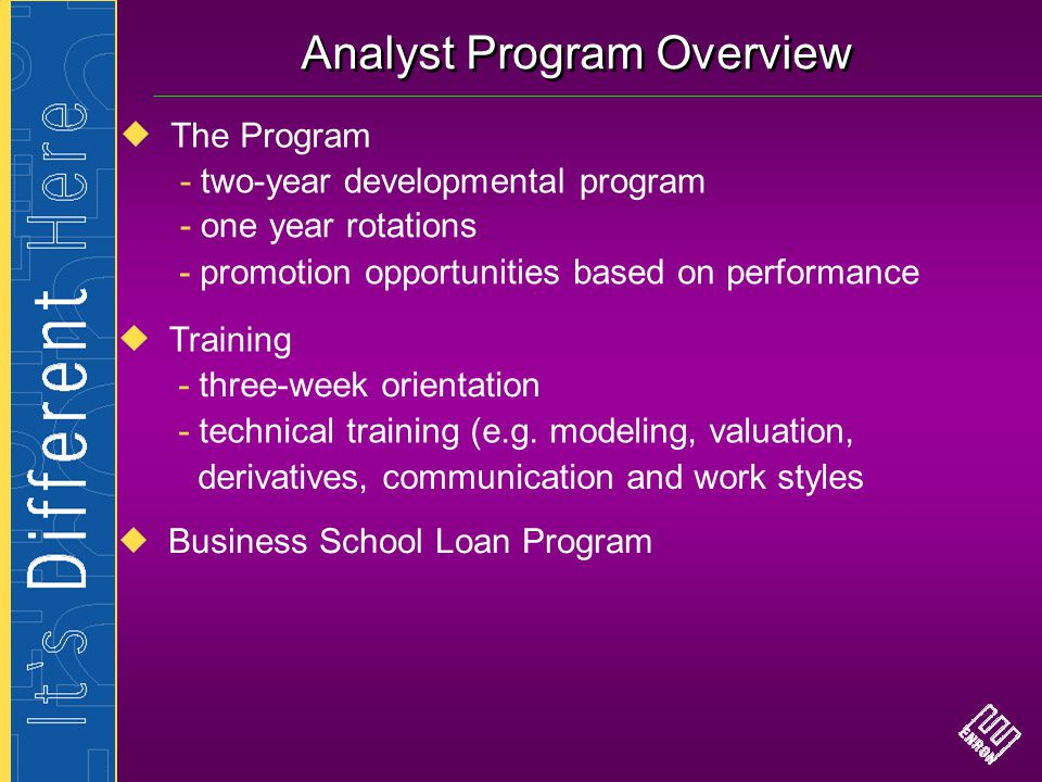 Analyst Program Overview