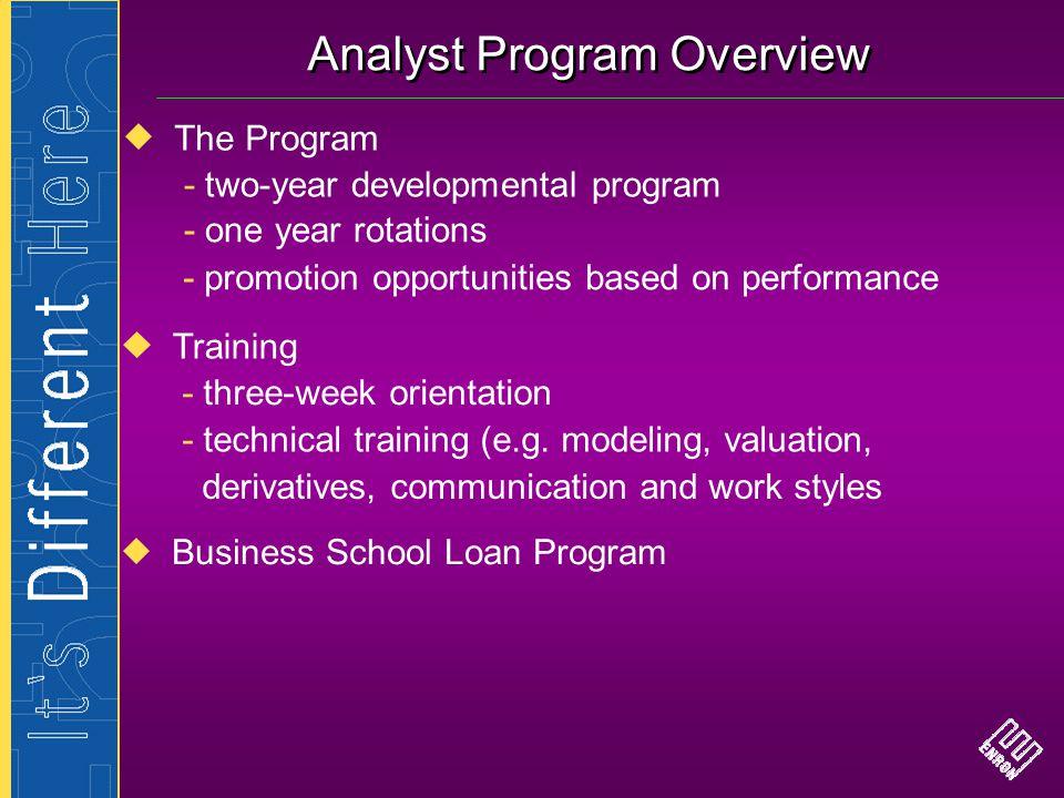 Analyst Program Overview