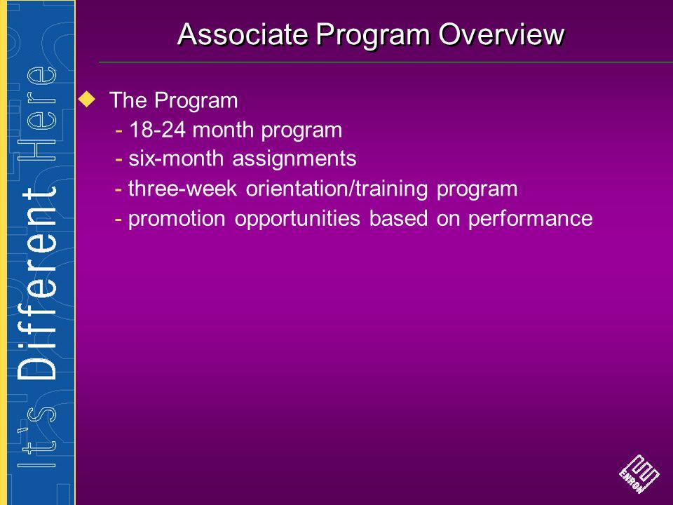 Associate Program Overview