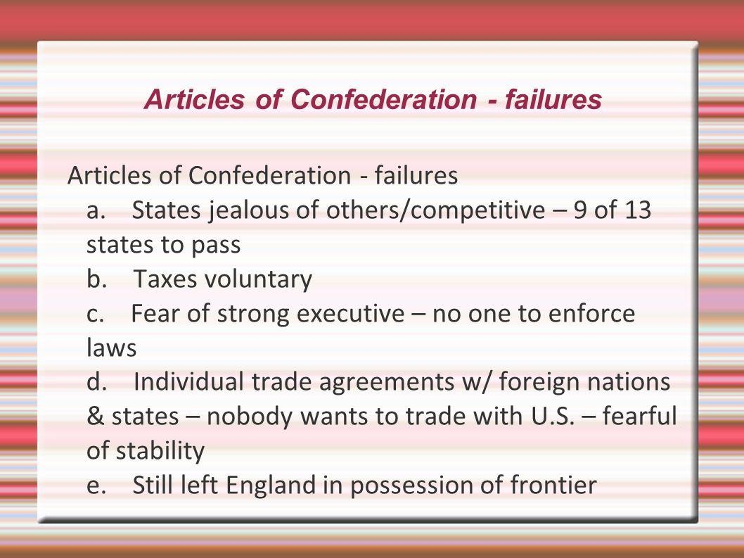 Articles of Confederation - failures