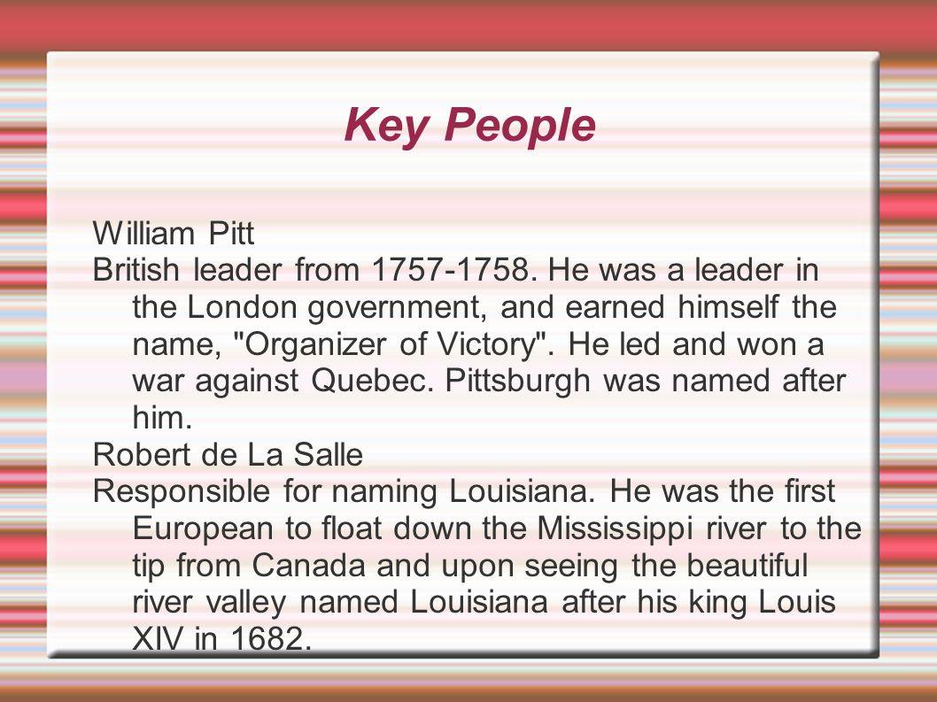 Key People William Pitt