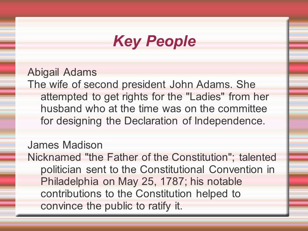 Key People Abigail Adams