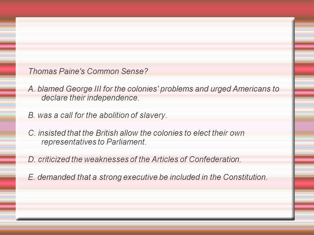 Thomas Paine s Common Sense