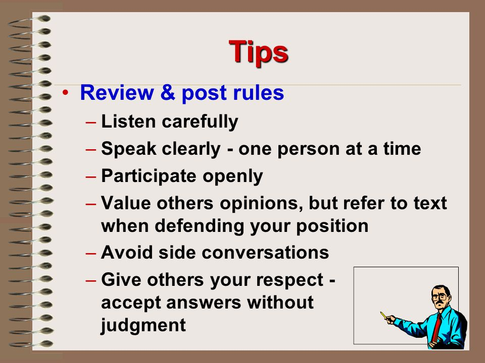 Tips Review & post rules Listen carefully