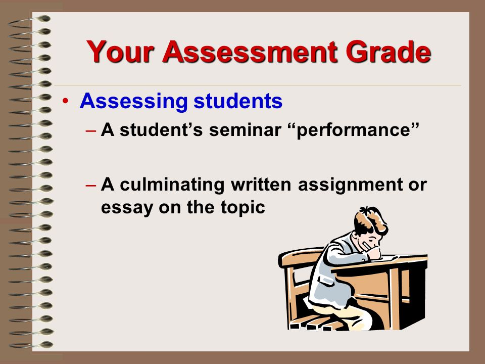 Your Assessment Grade Assessing students