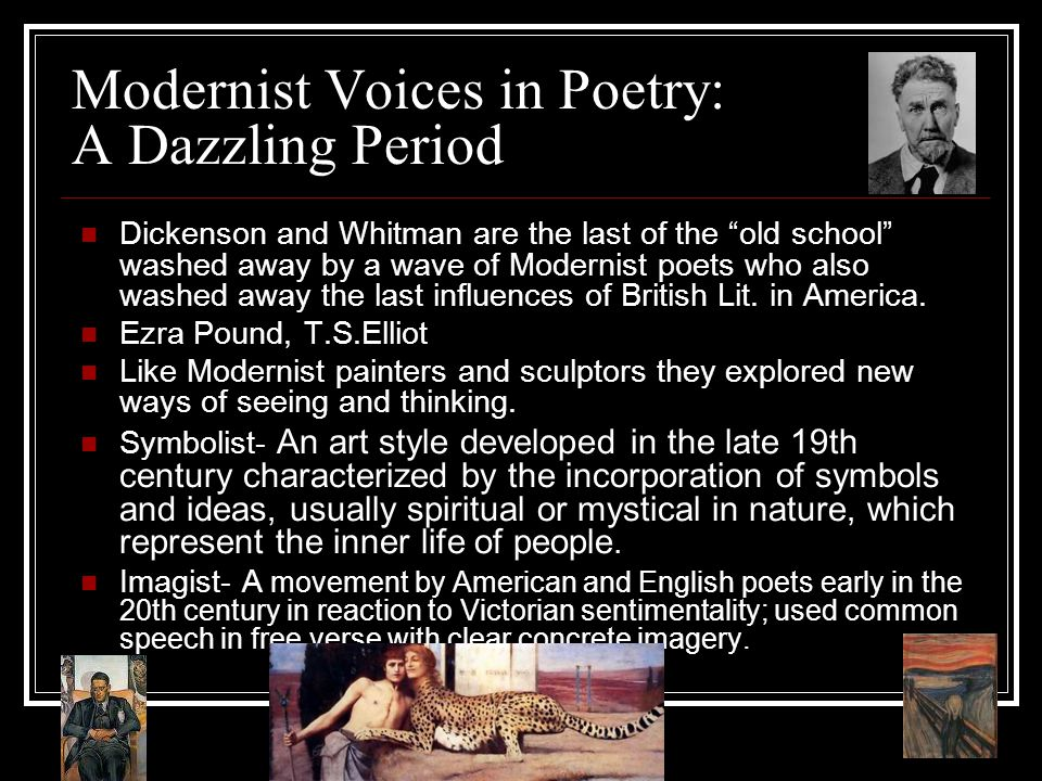 Modernist Voices in Poetry: A Dazzling Period