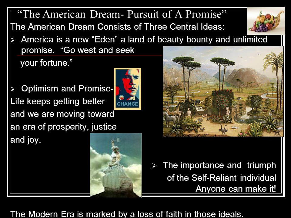 The American Dream- Pursuit of A Promise