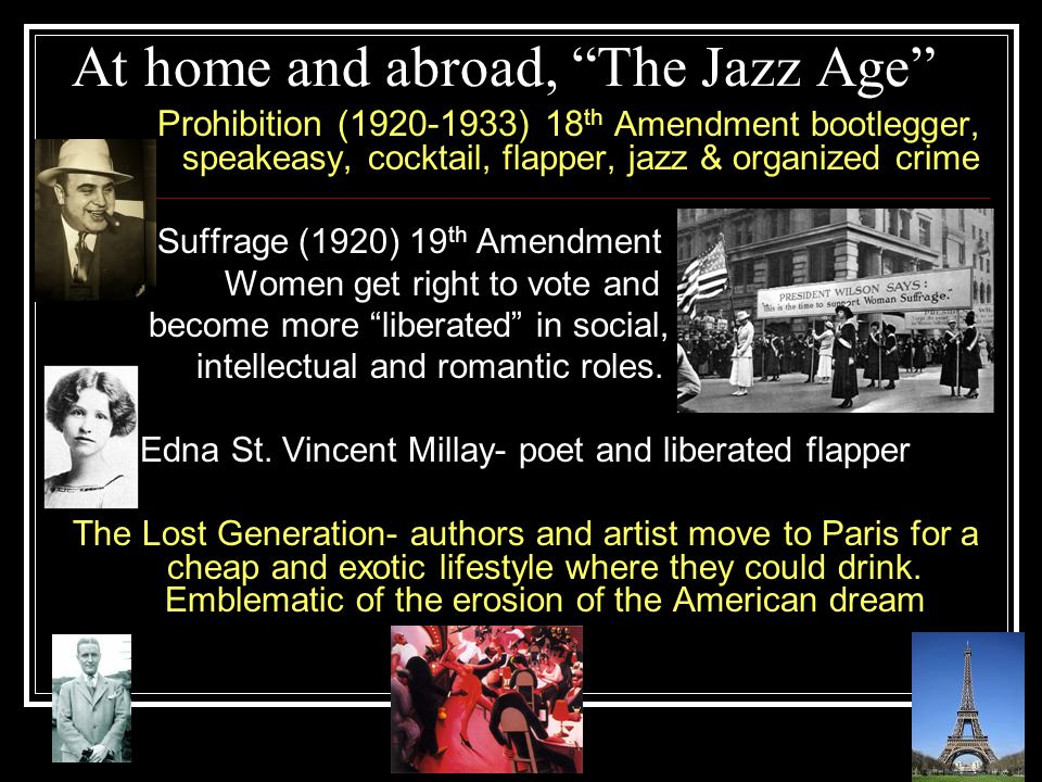At home and abroad, The Jazz Age