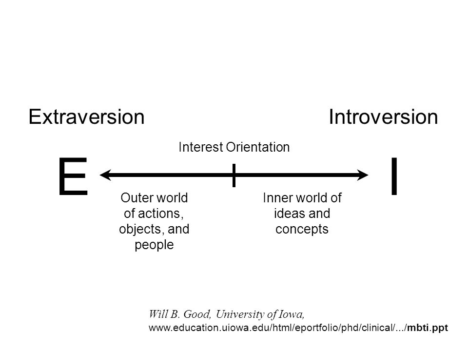 E I Extraversion Introversion Interest Orientation
