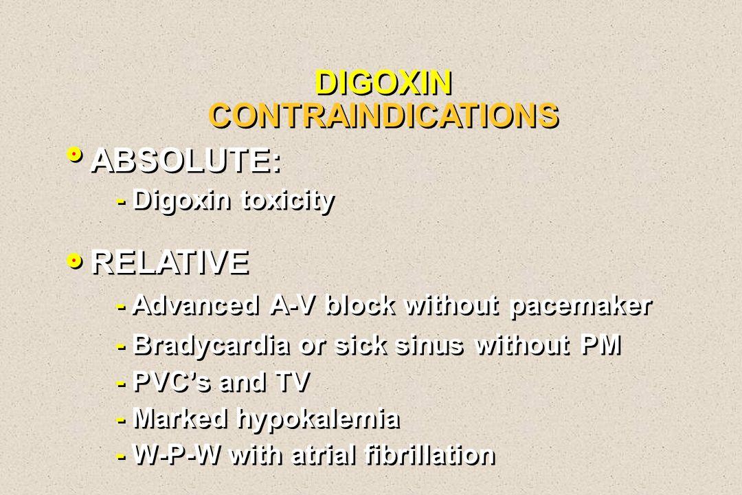 DIGOXIN CONTRAINDICATIONS