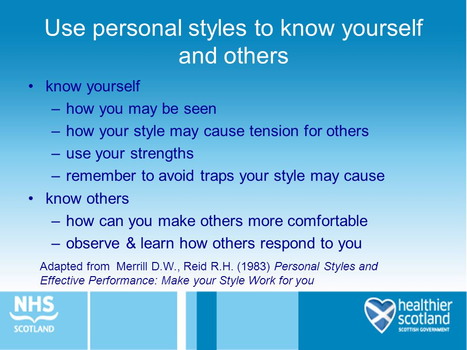 Use personal styles to know yourself and others