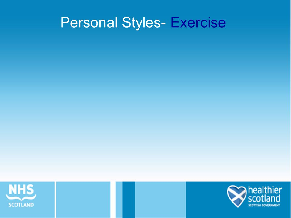 Personal Styles- Exercise
