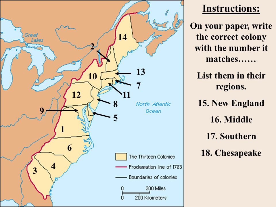 New england and chesapeake regions before