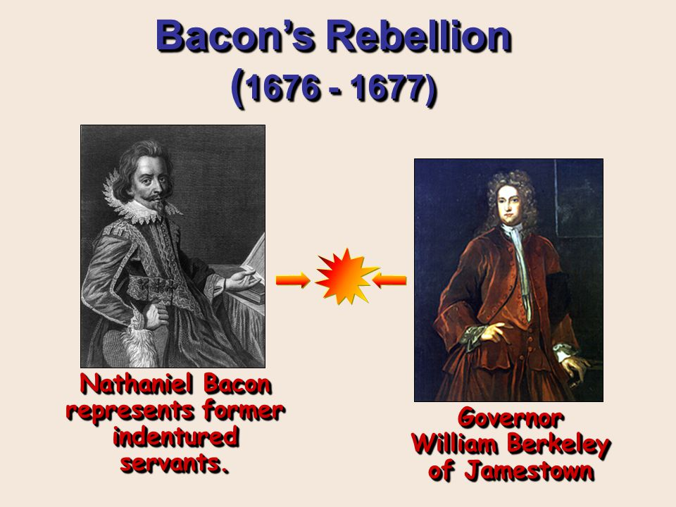 bacons rebellion essay In an essay of approximately 4 typed pages, double spaced, 1 margins, write an  interpretive account of bacon's rebellion in 1676 based on your analysis and.