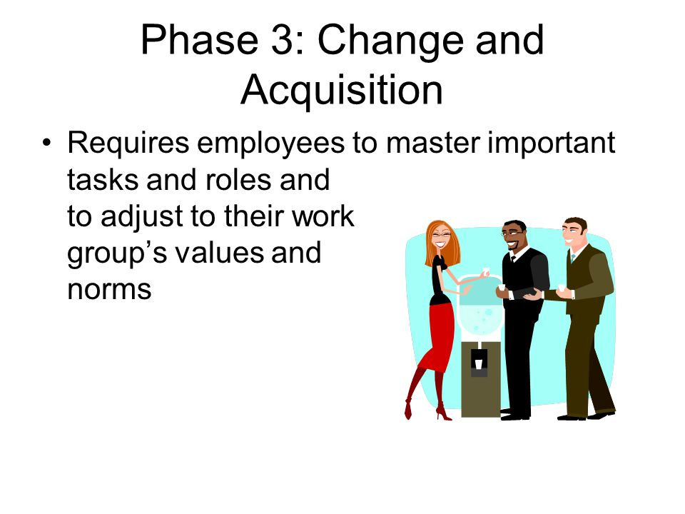 Phase 3: Change and Acquisition