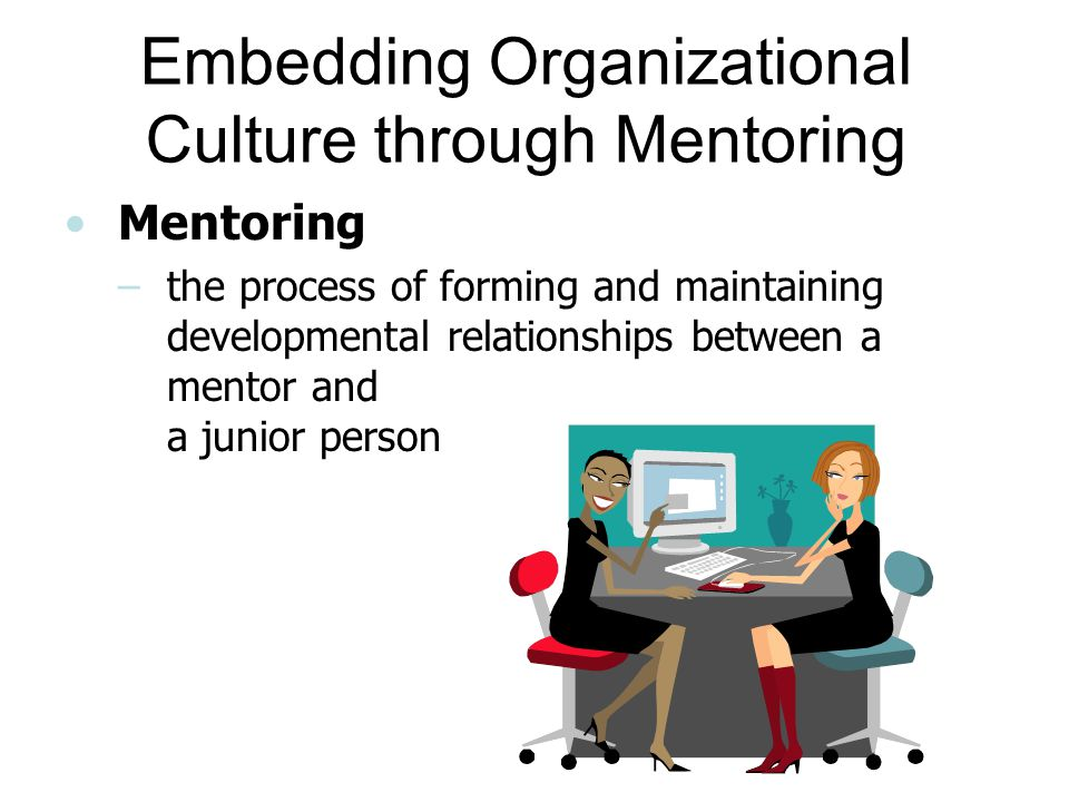 Embedding Organizational Culture through Mentoring