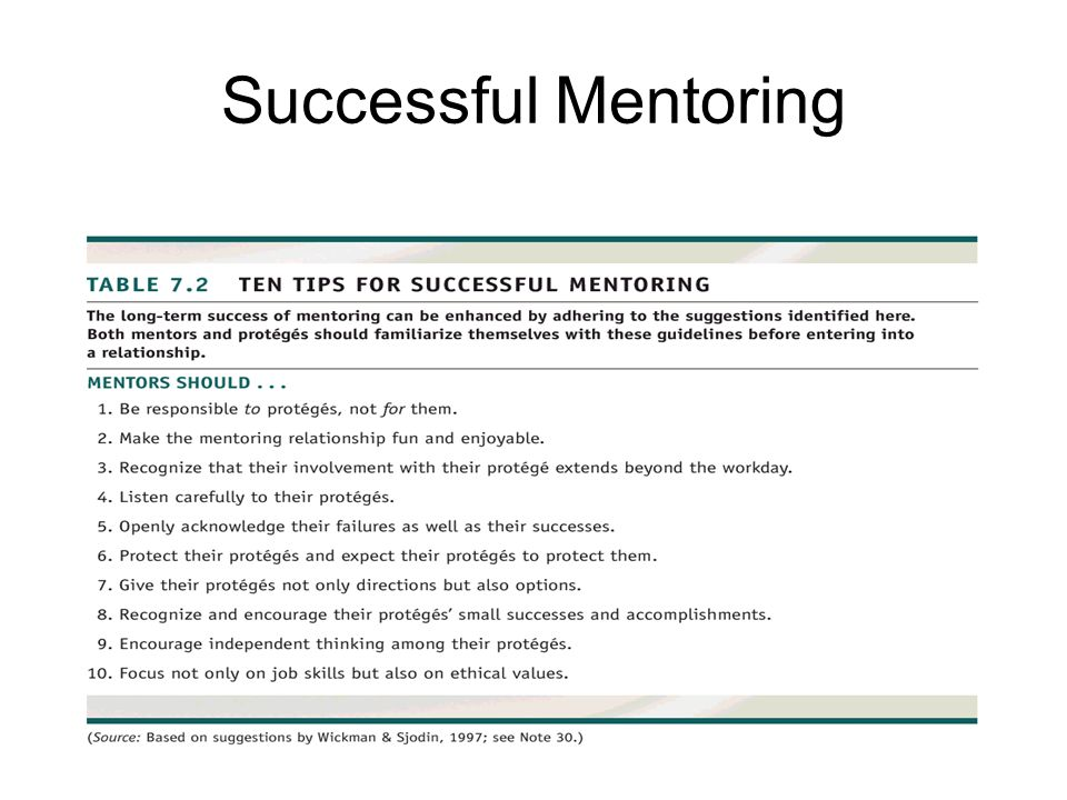 Successful Mentoring