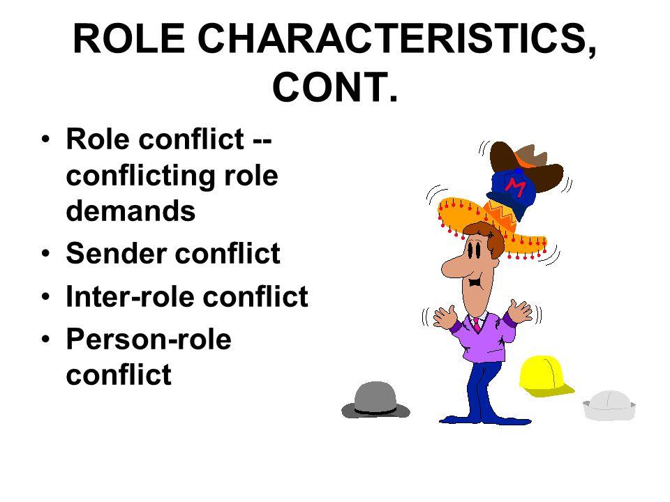 ROLE CHARACTERISTICS, CONT.